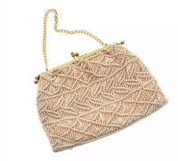 VINTAGE CREAM CROCHET BAG at Ross's Jewellery Auctions