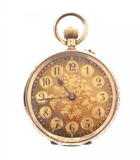 14CT GOLD 'CUIVRE' OPEN-FACED LADY'S POCKET WATCH at Ross's Auctions