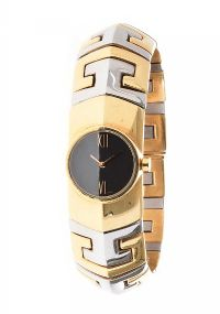 BVLGARI STAINLESS STEEL AND 18CT GOLD LADY'S WRIST WATCH at Ross's Auctions