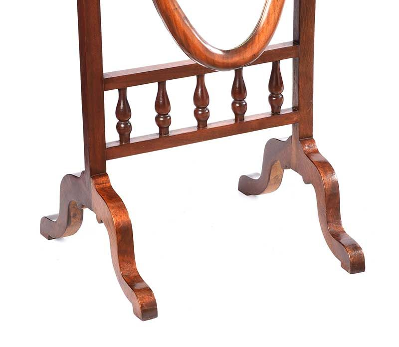 EDWARDIAN MAHOGANY CHEVAL MIRROR at Ross's Online Art Auctions