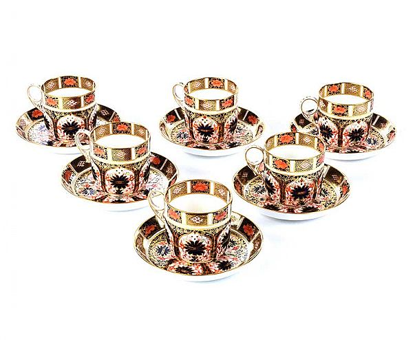 TWELVE PIECE ROYAL CROWN DERBY TEA SET at Ross's Online Art Auctions