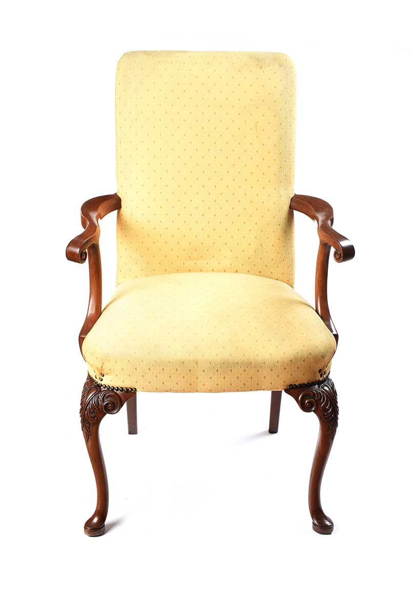 UPHOLSTERED ARMCHAIR at Ross's Online Art Auctions
