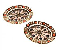 PAIR OF ROYAL CROWN DERBY OVAL PLATTERS at Ross's Auctions