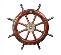 ANTIQUE SHIP'S WHEEL at Ross's Online Art Auctions
