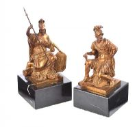 PAIR OF REGENCY BRONZE FIGURES at Ross's Auctions
