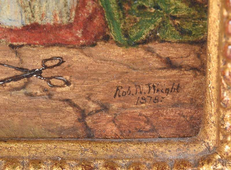 OIL ON BOARD SIGNED R.W. WRIGHT at Ross's Online Art Auctions