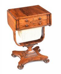 REGENCY ROSEWOOD SEWING TABLE at Ross's Auctions