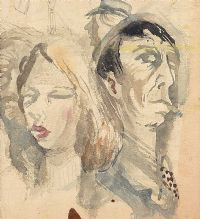 FACES AT THE FAIR by George Campbell RHA RUA at Ross's Auctions