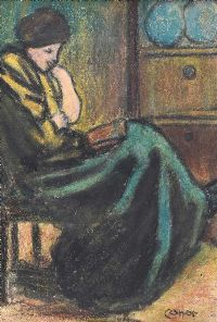A QUIET READ by William Conor RHA RUA at Ross's Auctions