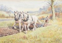 ON WITH THE PLOUGH by John Carey at Ross's Auctions