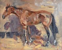 THE CHASER by Basil Blackshaw HRHA HRUA at Ross's Auctions