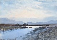 RIVER, TURF STACKS & BOGLANDS, CONNEMARA by William Percy  French at Ross's Auctions