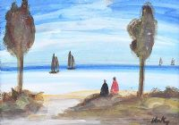 WATCHING THE SAILBOATS by Markey Robinson at Ross's Auctions