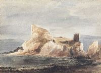 KINBANE CASTLE, COUNTY ANTRIM by Andrew Nicholl RHA at Ross's Auctions