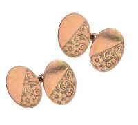 9CT GOLD CUFFLINKS at Ross's Jewellery Auctions