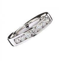 18CT WHITE GOLD DIAMOND ETERNITY RING at Ross's Jewellery Auctions