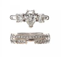 18CT WHITE GOLD DIAMOND RING AND BAND at Ross's Jewellery Auctions