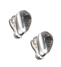 CARTIER 18CT WHITE GOLD ROCK CRYSTAL EARRINGS at Ross's Jewellery Auctions