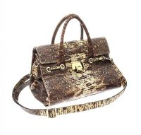 JIMMY CHOO EMBOSSED SNAKESKIN LEATHER HANDBAG at Ross's Jewellery Auctions