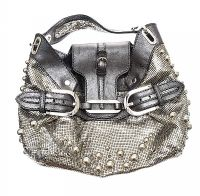 JIMMY CHOO CHAIN MAIL AND LEATHER HANDBAG at Ross's Jewellery Auctions