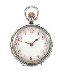 STERLING SILVER POCKET WATCH at Ross's Auctions