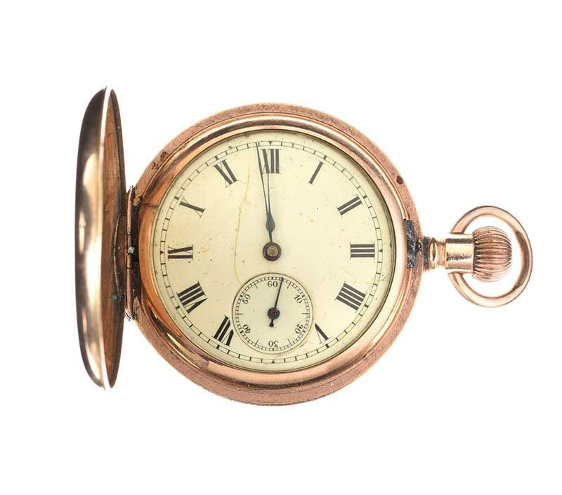 GOLD-TONE POCKET WATCH at Ross's Online Art Auctions