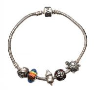 PANDORA STERLING SILVER BRACELET WITH ASSORTED CHARMS at Ross's Jewellery Auctions