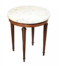 MARBLE TOP LAMP TABLE at Ross's Auctions