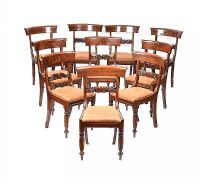 HARLEQUIN SET OF TEN WILLIAM IV DINING ROOM CHAIRS at Ross's Auctions