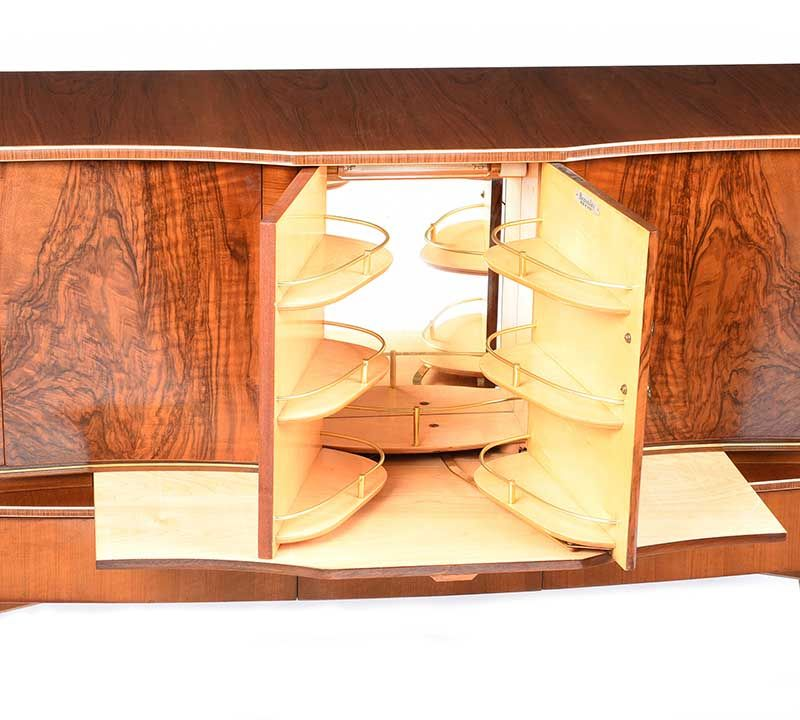 VINTAGE WALNUT SIDEBOARD at Ross's Online Art Auctions