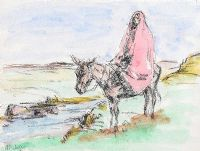 CROSSING THE RIVER by Anne Primrose  Jury HRUA at Ross's Auctions