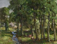 CATTLE GRAZING BY A RIVER by James Humbert Craig RHA RUA at Ross's Auctions