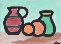 STILL LIFE, JUGS & ORANGES by Markey Robinson at Ross's Auctions