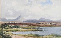 DISTANT MOUNTAINS by Frank McKelvey RHA RUA at Ross's Auctions