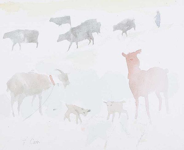 COWS & GOATS by Tom Carr HRHA RUA RWS at Ross's Online Art Auctions