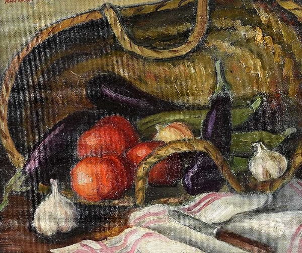 TABLE TOP STILL LIFE by John Turner RUA at Ross's Online Art Auctions