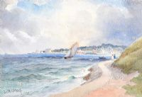 SAILING NEAR HOLYWOOD by Joseph William  Carey RUA at Ross's Auctions