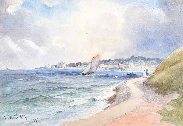 SAILING NEAR HOLYWOOD by Joseph William  Carey RUA at Ross's Online Art Auctions