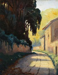 PATH IN THE VILLAGE by Charles McAuley at Ross's Auctions