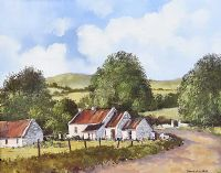 FARM BUILDINGS IN THE SPERRINS by Dennis Orme Shaw at Ross's Auctions