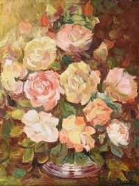 STILL LIFE, ROSES by Gladys Maccabe HRUA at Ross's Auctions