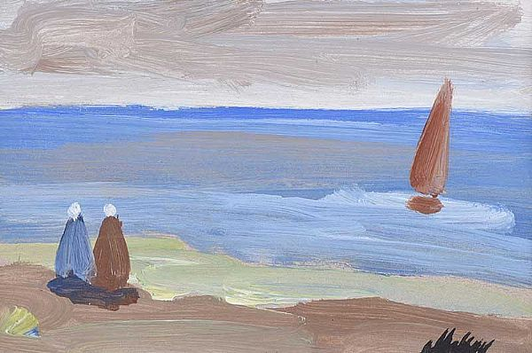 WATCHING THE BOAT by Markey Robinson at Ross's Online Art Auctions