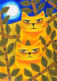 MOONLIGHT CATS by Graham Knuttel at Ross's Auctions