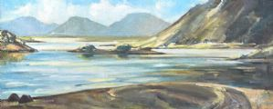 TWELVE PINS FROM LOUGH INAGH, CONNEMARA by Marjorie Henry RUA at Ross's Auctions
