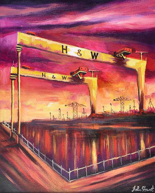 HARLAND & WOLFF THE DEEP WATERS by John Stewart at Ross's Online Art Auctions
