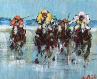 FOUR HORSE RACE by Desmond Murrie at Ross's Auctions