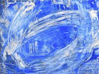 BLUE ABSTRACT by Gerard Dillon at Ross's Auctions