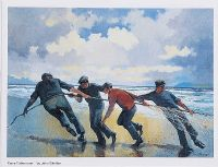 SUMMER BREEZE, MEN OF ARAN, KERRY FISHERMAN & THE BIG CURRACH, ARAN by John F. Skelton at Ross's Auctions