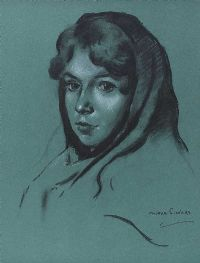 MAUREEN, GALWAY GIRL by Maurice Canning  Wilks ARHA RUA at Ross's Auctions