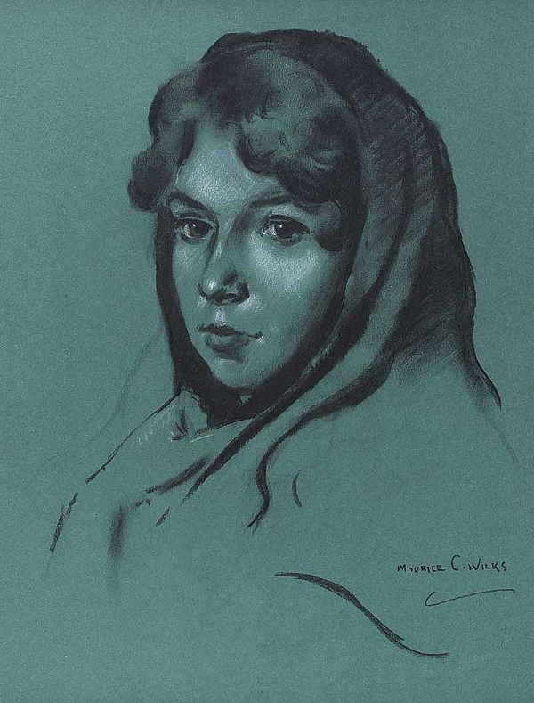 MAUREEN, GALWAY GIRL by Maurice Canning  Wilks ARHA RUA at Ross's Online Art Auctions